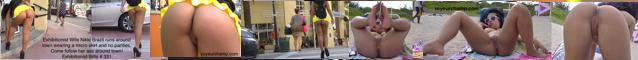Exhibitionist Wives Flashing & Teasing Voyeurs In Public & Nude Beach
