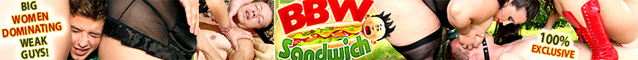 BBW SANDWICH - Femdom 3somes with voluptuous BBW dominas