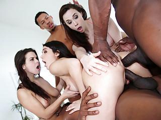 Interracial Orgy With Chanel, Keisha and Valentina
