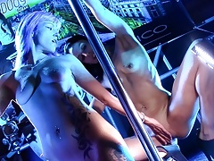 Estefani Tarrago y Daisy Hot show lesbico SEMAD 2017