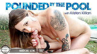 GroobyVR: Kristen Killian in Pounded by the Pool