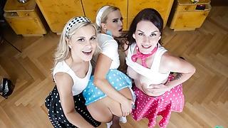 Foursome With Three Insanely Hot Sluts!