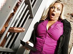 Amber Lynn Bach Fucks BBC In Prison