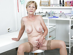 blonde granny who waits for her doctor