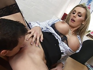 Sexy teacher can't wait so she just gets fucked in her classroom