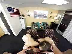 Amateur VR threesome porn - Kasey Warner and Zoey Laine