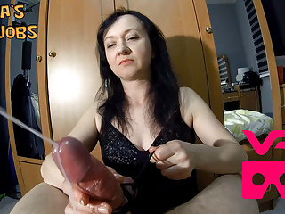 Download video bokep Maya VR femdom handjob with 2 cumshots in a row Mp4 terbaru