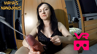 Maya VR femdom handjob with 2 cumshots in a row's Thumb