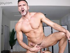 VRBgay.com - Manuel Skye fucked hard in the ass Gay VR PORN