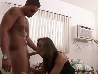 Cute little slut gets her perfect titties covered with jizz
