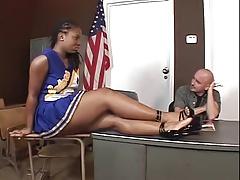 Hottest ebony cheerleader fucking Thumbnail