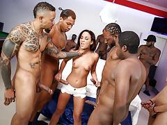 Interracial Gangbang With Anal Slut Amara Romani
