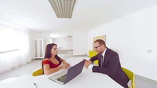 Jobs in shemale porn - Virtualtaboo.com deep job interview with bianka blue and raquel martin