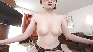 Redhead and big tits Bree Daniels Fucks you in VR
