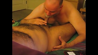 Sensuous Sucking For A Hirsute Senor.  In Real Time.