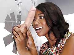 Ebony skyler nicole tries anal with huge cock at gloryhole Thumbnail