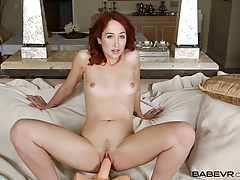 BaBeVR Redhead Luna Lain Drills Her Pussy In Front Of You