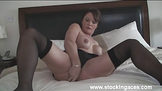 Stocking Milf Magic Wands Herself