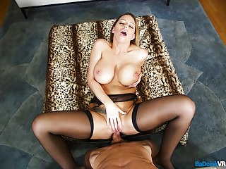 BaDoink VR Busty Brooklyn Chase Collects Her Cummission