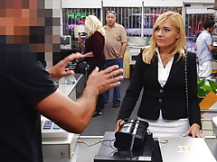 Blonde milf banged in the pawnshop - xxx pawn Thumbnail