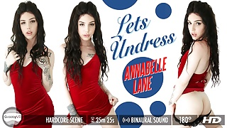 Grooby VR: Let's Undress with Annabelle Lane