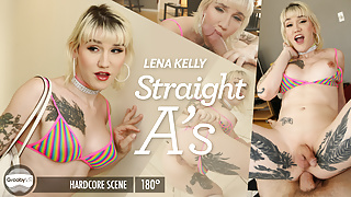 GroobyVR: Lena Kelly in Straight A's