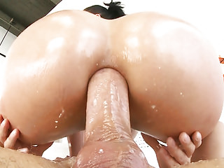 Big booty Kristina Rose takes big dick up to her asshole