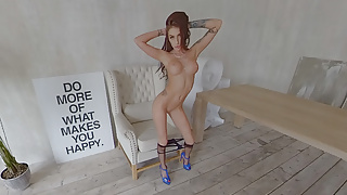 StasyQVR - 180 VR Porn Video - Body Stocking Bombshell Megan