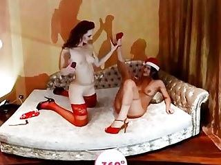 Slutty babes give Santa the best present