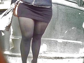 curvy girl in tight dress