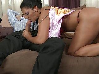 Jasmin gets her big booty nailed hard from behind