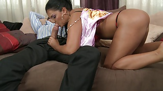 Jasmin gets her big booty nailed hard from behind
