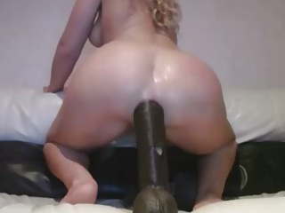 Blonde Teenager Uses Huge Dildos To Destroy Her Ass