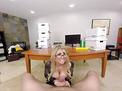 Kayla Kayden's big tits in the ofice - Naughty America VR
