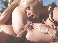 Christina Shine and Cassie Fire wants brutal anal fuck