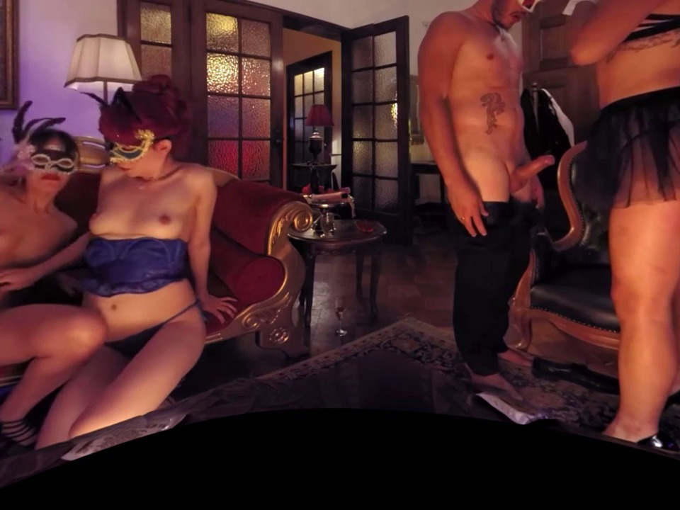 Vr 360 degrees orgy room threesome vs horny lesbians - 1 part 7