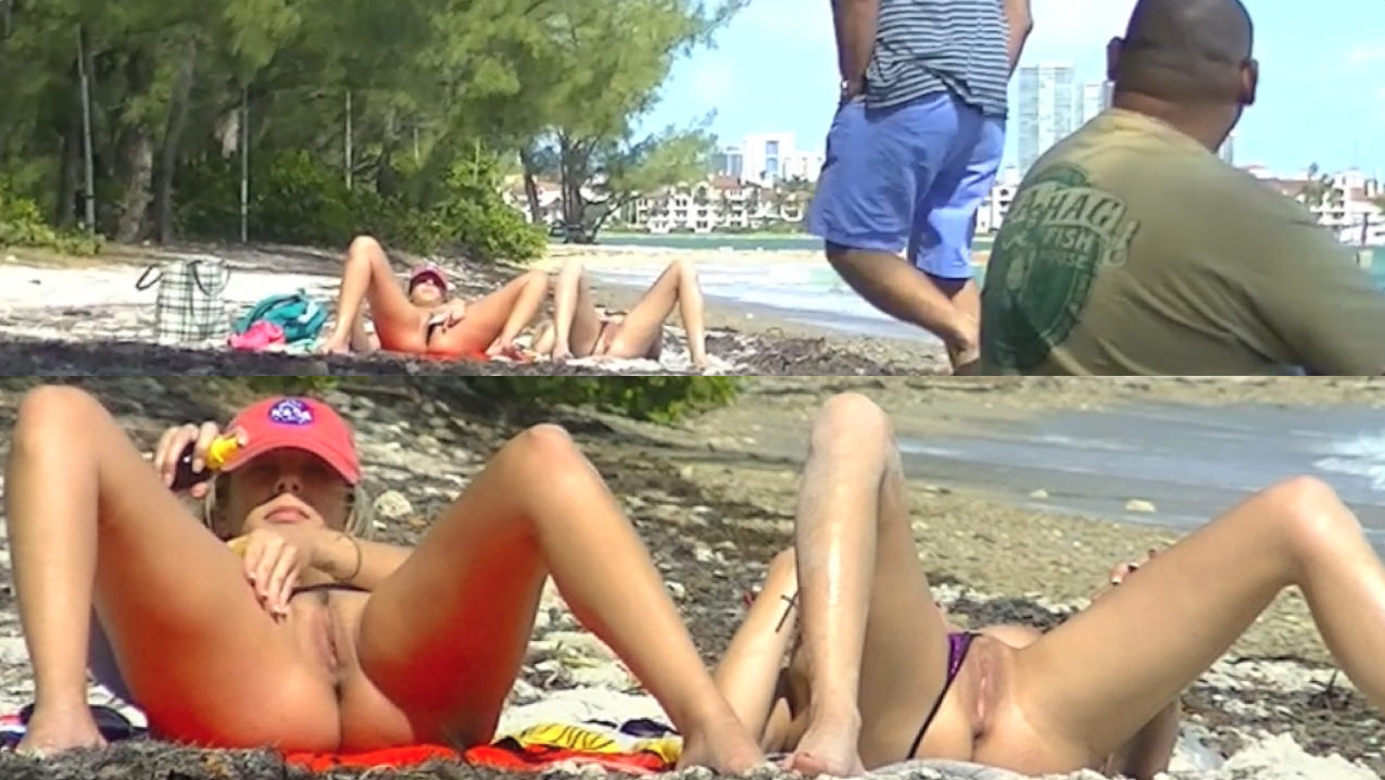 image Voyeurchampcom beach cock teasing wives lana vs betty