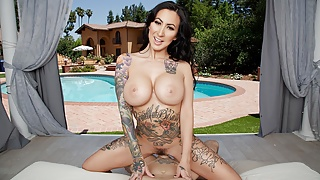 BaDoinkVR Tattooed Lily Lane Pays Her BF's Debt With Pussy