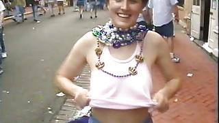 Mardi gras free flasher tits