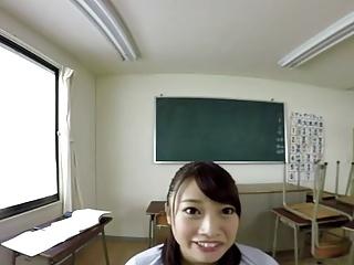 ZENRA VR Japanese teacher Madoka Kouno blowjob