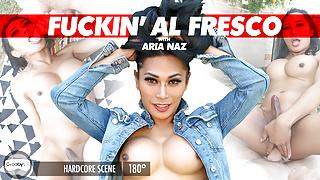 GroobyVR: Araia Naz in Fuckin' Al Fresco