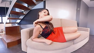 Nikki Little does a webcam show