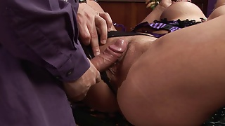 Wayne screws the blonde hard and shower her face with cum