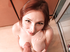 Redhead MILF homewrecker fucks her neighbor