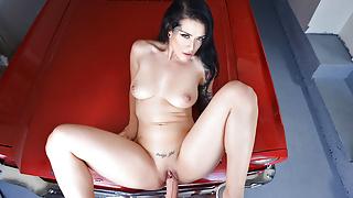 VR Porn Katrina Jade Fucks POV In Mustang On BaDoinkVR