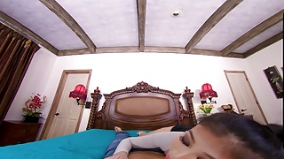 Asian teen porn dog - Badoinkvr busty asian teen jade kush is horny this morning