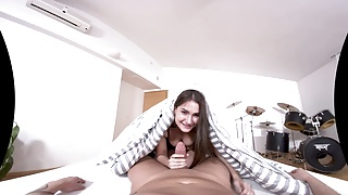 TmwVRnet - Ellen Betsy - Gagging Blowjob and Cock Riding