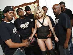 Madelyn Monroe Gets Throat Fucked By Black Cocks
