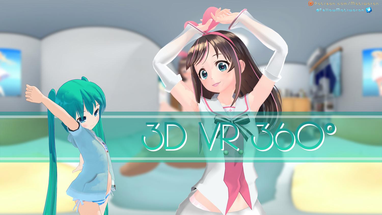 4K VR 360 y 3D - ¡KizunaAI trasero mientras Mimiku espera!