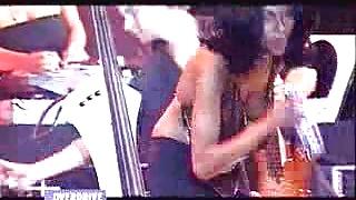 Jazz concert - nipple slip